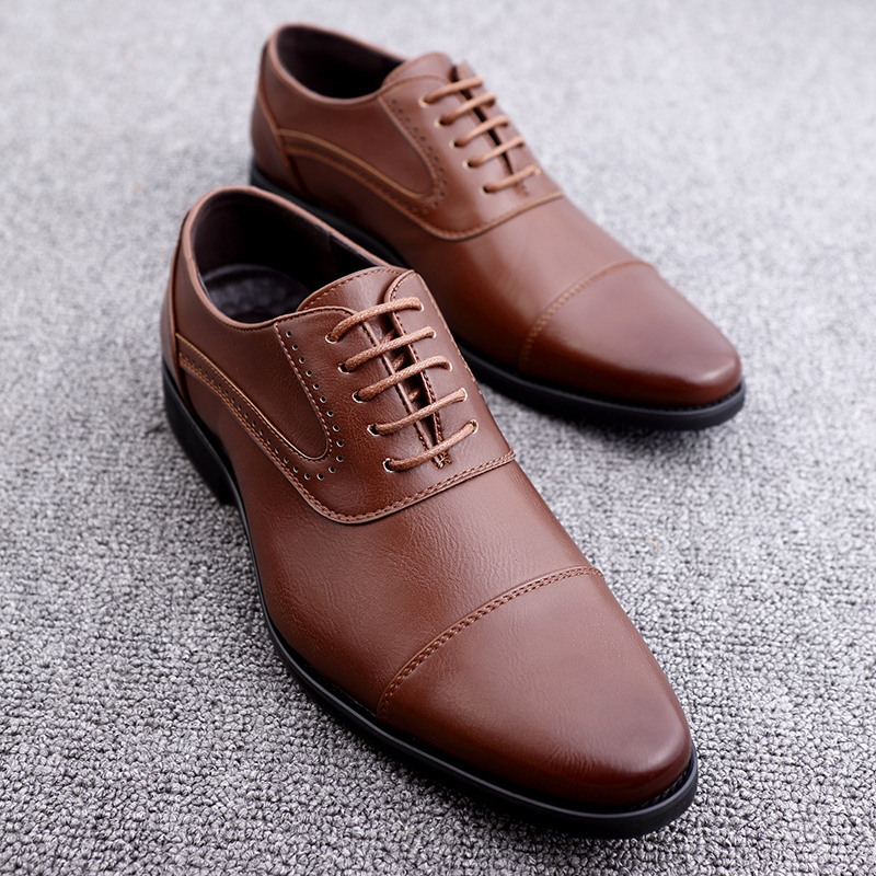 men spring working shoes luxury brand italian eurpean style pointed toe elegant male footwear dress working oxford shoes for men (22)
