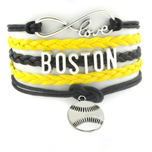 Top Quality Infinity Love Boston Baseball Team Bracelet Customized Celtics Wristband friendship Handmade Bracelets