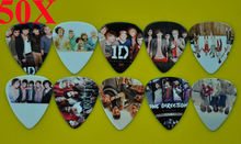 Lots of 50Pcs  Rock Band 1 D One Direction 2 sides printing Guitar Picks Medium