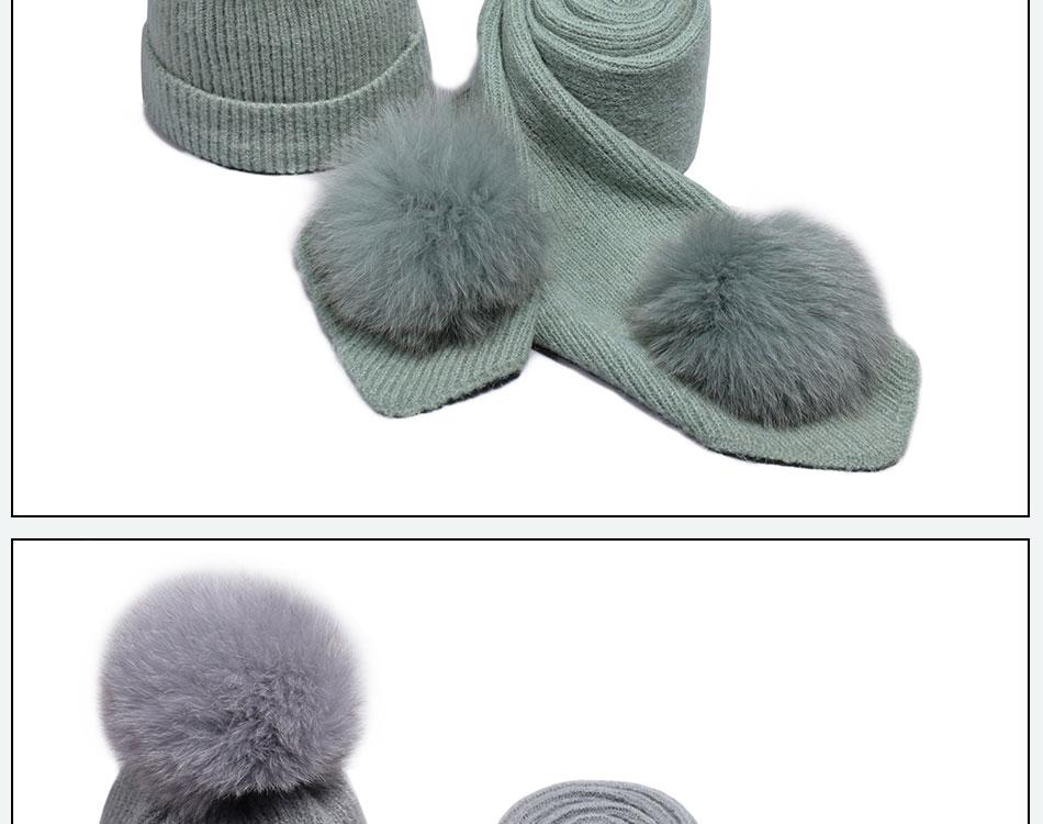قبعة ووشاح للفتيات 20