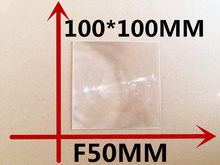 1pcs/lot square 100*100MM Focal length 50 mm High concentrated lens DIY Solar concentrator  plane amplification fresnel Lens