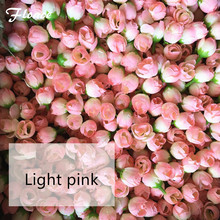 Floace DIY Road led wedding flower heads Flower bouquet 100pcs/lot DIY wreath garland artificial silk rose hotel background wall(China)