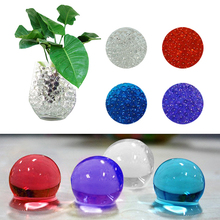 New 10 Packs Crystal Soil Gel Ball Bio Beads Wedding vase pot - Purple