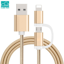 Smart USB Cable 2 IN 1 IOS Android Mirco Monitor Current Capacity 2.1A For IPhone 5 5S 5C 6 6S Plus Se 7 Plus IPad Charger Line