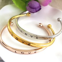 Hot Sale three colors Original design simple about pure copper casting love knot knot open metal bangle bracelet love bracelet