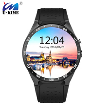2017 Kw88 android 5.1 OS Smart watch electronics android quad core Processor Heart Rate 3G wifi Wireless SmartWatch(China)