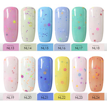 Belle Fille 10ml Cheese Gel Nude Pink Red Blue Yellow Green Color Nail Polish Summer Nail Art Decoration Makeup Colour Lacquer(China)