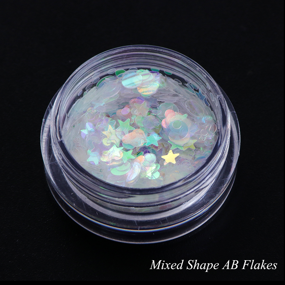 AB Color Flakes Nail Sequins5