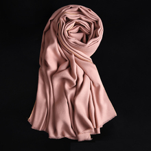 CN-RUBR New Arrival 15 Colors Women Scarf Vintage Ladies Solid Color Black Red White Scarves Warp Autumn Winter Women Long Scarf