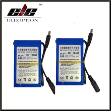 2x Eleoption DC12480 DC 12V 4800mAh Super Rechargeable Li-ion Battery Pack For CCTV Camera Video With Plug(China)