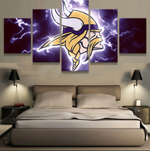 5 Panel NFL Minnesota Vikings Sports Football Print Painting On Canvas Modern Home Pictures Prints Living Room Deco Fans Posters