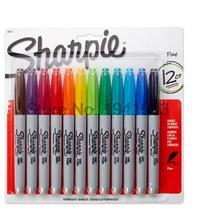 12 24 Colors/box Oil American Sanford Sharpie Permanent Markers,eco-friendly Marker Pen,sharpie Fine Point Permanent Marker(China)
