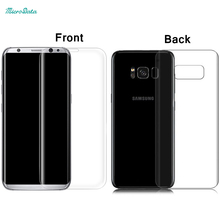 MicroData Front + back tempered glass for Samsung Galaxy S8 mobile phone screen saver guard skin 3D full cover s8 free shipping