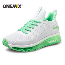 Buy ONEMIX 2017 running shoes women air cushion high top shock absorption sports sneaker light outdoor walking jogging shoes men for $64.07 in AliExpress store