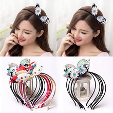 1PC Fashion Hot Sale Girls Children Colorful Lovely Bow Rabbit Ears Hairbands Kids Hair Accessories(China)