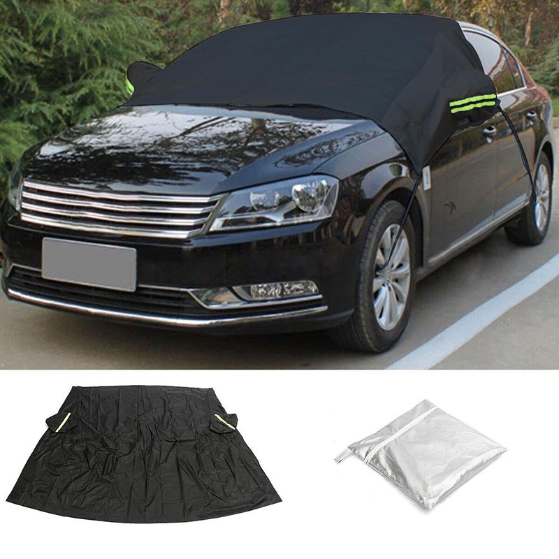 New Black Universal Car Front Cover Sunscreen Windscreen Windshield Sun Shade Shield Cover Anti Snow Frost Dust Protector
