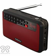 RoltonT60 MP3 player mini portable audio speakers 2.1 FM radio with LED light/screen support TF card USB playing music