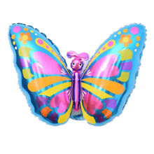 48.5*76cm Butterfly Foil Balloon for Birthday Party Decoration Lovely Cartoon Animal Baloon Kids Gift Wedding Decor Supplies(China)
