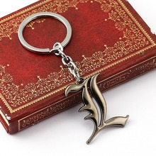 Anime jewelry Death Note metal keychain letter L logo antique silver alloy key ring key holder chaveiro Accessories Jewelry