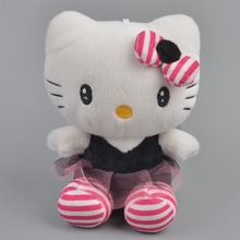 20cm purple Bud silk skirt Hello Kitty Plush Toy, Girl Baby Gift, Kids Doll Wholesale with Free Shipping