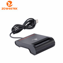 Zoweetek 12026-2 Easy Comm USB EMV Smart Card Reader Writer For ISO 7816 EMV Chip Tags + 1pcs Card Reder +1 Driver CD