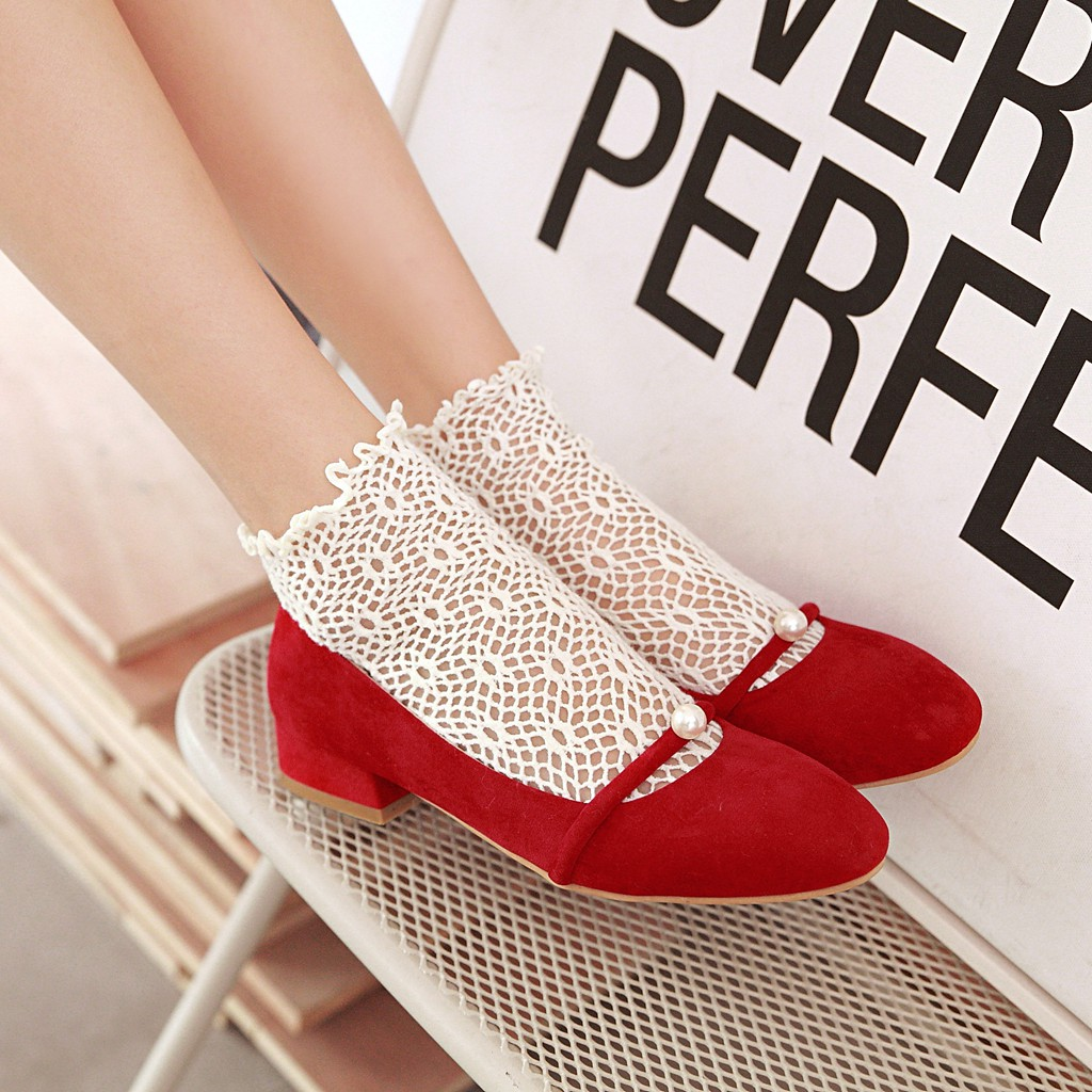 New Woman Shoes Ladies casual Shoes Womens square Toe Low Heels Pumps Square Heeled Female Shoe zapatos mujer