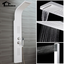3 color Curved Bathroom Shower Panel Waterfall Body Jets Hand Held Massage System Faucet Jets Tower Column 9USD discount for UK