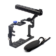 F11100 Professional GH3 GH4 Protective Housing Case Handle Grip Rugged Cage Combo Set DSLR Rig Digital Camera(China)