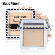 Music Flower Face Fix Makeup Pressed Powder Concealer Compact Powder Brand Highlight Contour Shading Powder Oil-control(China)