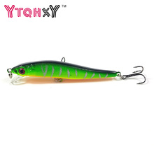 New Minnow Fishing Lures 8cm 5.5g 8# Hooks Fish Minnow Lure Tackle Hard Bait Pesca Wobbler Artificial Swim bait YE-26