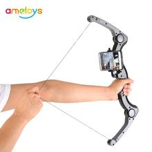 Newest Augmented Reality AR Archery Combine with Virtual High-tech Bow-shaped Gaming Toy ABS Bow BT Connection Toys for Boys(China)