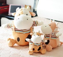 25cm lovely cows plush toy cattle stuffed doll car toys cute toy for children