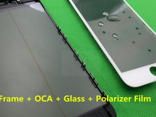 10pcs/lot New Replacement LCD Front Touch Screen Glass Outer Lens for iphone 6S 4.7' with frame bezel OCA LCD Polarizer Film