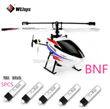 New Version WLtoys V911 pro V911 V2 2.4G 4CH RC Helicopter BNF(only body)+5 Pieces 200mah Batteries