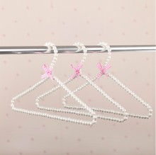 [Free shipping] Top Quality Delicate White Pearl Hanger for Dresses (12 pieces/ Lot)(China)