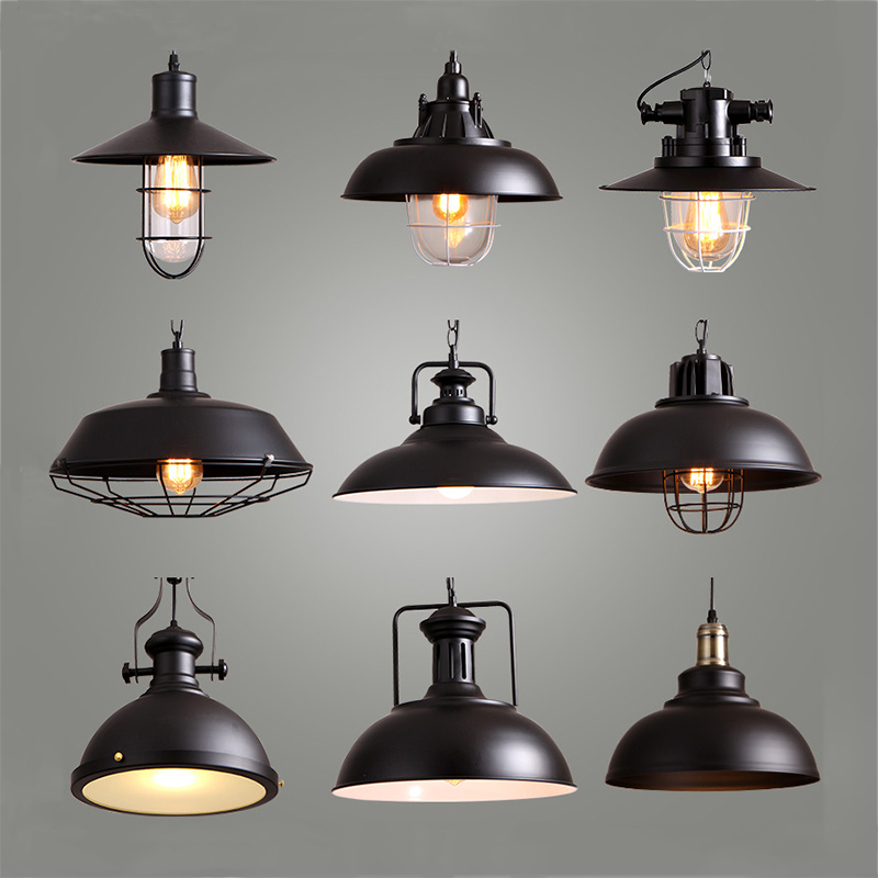 Industrial Style Retro Pendant Lights Vintage Pendant Lamp Hanging Lamp with E27 Led Bulb  Dormitorio Dinning Room Kitchen Bar<br>