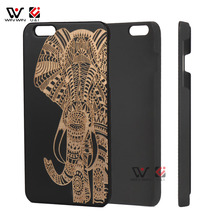 elephant phone case for iPhone6 6plus phone shell wood plastic cope for Apple(China)
