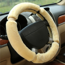 Winter  Plush car steering wheel cover sets  for ford ecosport fiesta focus 2 3 mk2 kuga mondeo mk3 mk4