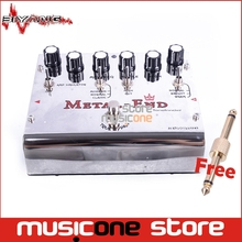 Biyang Tonefancier Metal End King Distortion Electric Guitar Effect Pedal True Bypass Design with Gold Pedal Connector