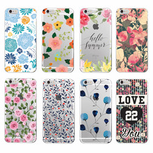 2016 Floral Flowers Rose Daisy Cherry Blossom Trendy Fashion Cute Soft TPU Printed case For iPhone6 6 plus 7 7Plus 8 8plus X(China)