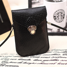 Hot sale Universal Double layer small fashion Shoulder Diagonal mobile phone Bag case mini Messenger Bag for iphone samsung Etc.