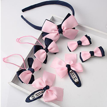 Free Shipping 1 Set Butterfly Baby Girl Hair Clip bowknot Hairpin Toddler Kids Children Hair Accessories Headwear Hair Hoop(China)