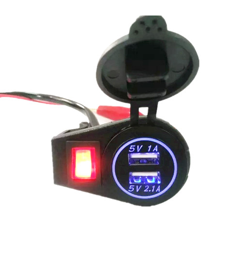 Waterproof car and motorcycle modified car USB charger mobile navigation digital voltmeter LED display<br><br>Aliexpress