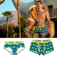 Buy Pink Hero Cotton Fashion Brand Print Sexy Couples Lovers Underwear Character Women Low waist Briefs Ladies Panties