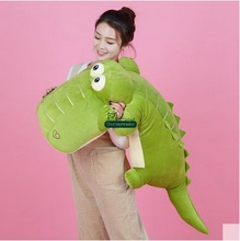 Dorimytrader 135cm Jumbo Animal Crocodile Plush Toy 53'' Big Stuffed Soft Cartoon Alligator Pillow Children Play Doll DY60819(China)