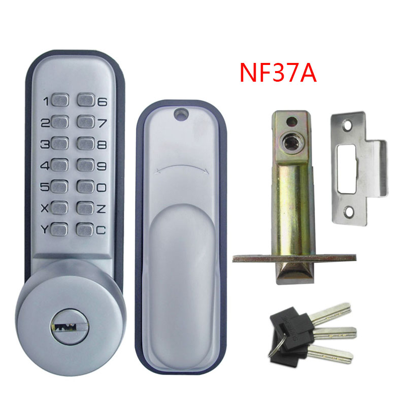 Mechanical Code Lock Digital Machinery Keypad Password Entry Door lock Stainless Steel Zinc Alloy Silver 1709<br>