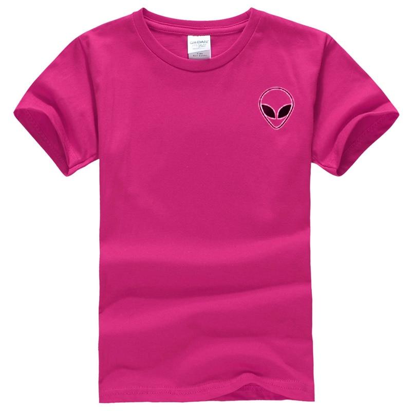 19 couleur S-XL Plaine T Shirt Femmes Coton Élastique De Base Chemises Casual Tops À Manches Courtes Harajuku Alien T-shirt Femme Vêtements 28