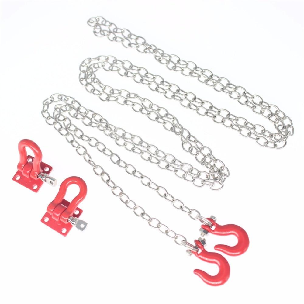 10x Mini Metal Tow Hook &amp; Trailer Chain Kit 1/10 RC Rock Crawler Accessories For Axial SCX10 TAMIYA CC01 RC4WD D90 Climbing Car<br>