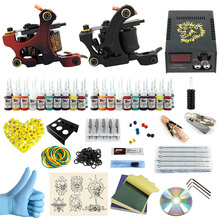 ITATOO Complete Tattoo Kit 2 Pro Machines 40 Color Inks Power Supply 20 Needles for Beginners PX110016(China)