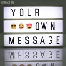 A6 LED Letter Light Box Cinema Lightbox Alphabet Night Light Sign Table Lamps Photography Props DIY Home Decor LTT9180